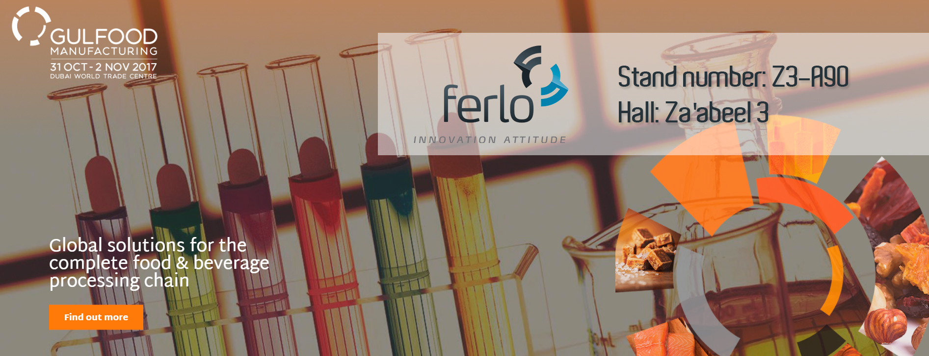 Ferlo is participating in Gulfood Manufacturing Fair 2017 Dubai